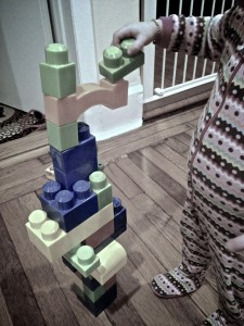 Megablocks, erected